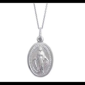 NWOT Sterling Silver Miraculous Pendant Necklace